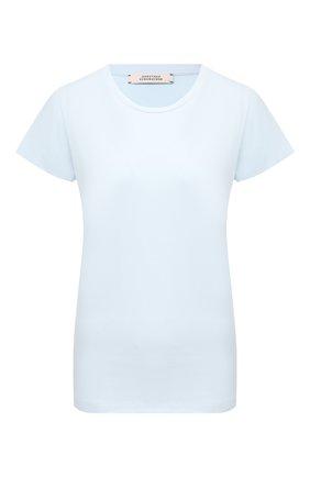 Женская хлопковая футболка DOROTHEE SCHUMACHER голубого цвета, арт. 128304/ALL TIME FAV0RITES | Фото 1