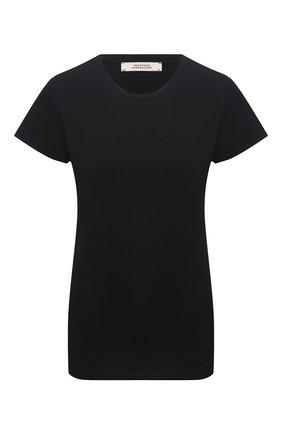 Женская хлопковая футболка DOROTHEE SCHUMACHER черного цвета, арт. 128304/ALL TIME FAV0RITES | Фото 1