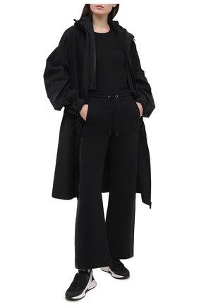Женская хлопковая футболка DOROTHEE SCHUMACHER черного цвета, арт. 128304/ALL TIME FAV0RITES | Фото 2