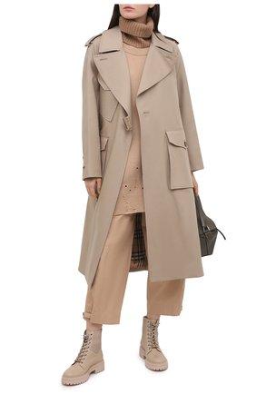 Женские хлопковые брюки DOROTHEE SCHUMACHER бежевого цвета, арт. 148103/SP0RTY P0WER | Фото 2