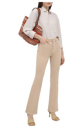 Женские джинсы 7 FOR ALL MANKIND бежевого цвета, арт. JSQNV500SA | Фото 2