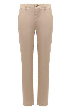 Женские брюки из хлопка и вискозы 7 FOR ALL MANKIND бежевого цвета, арт. JSL4V95LSA | Фото 1