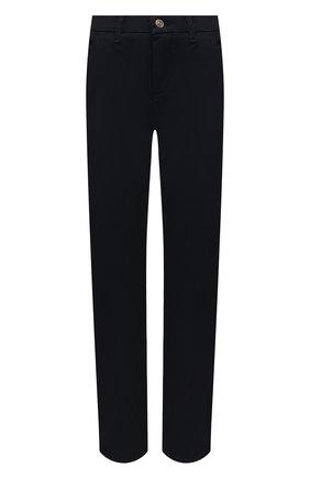Женские брюки из хлопка и вискозы 7 FOR ALL MANKIND синего цвета, арт. JSL4V95LLM | Фото 1