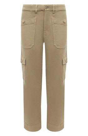Женские брюки из хлопка и вискозы 7 FOR ALL MANKIND бежевого цвета, арт. JSC0X370AL | Фото 1