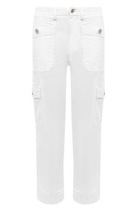 Женские брюки из хлопка и вискозы 7 FOR ALL MANKIND белого цвета, арт. JSC0X3700F | Фото 1