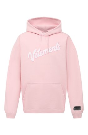Мужской хлопковое худи VETEMENTS розового цвета, арт. UE51TR770P 1604/M | Фото 1