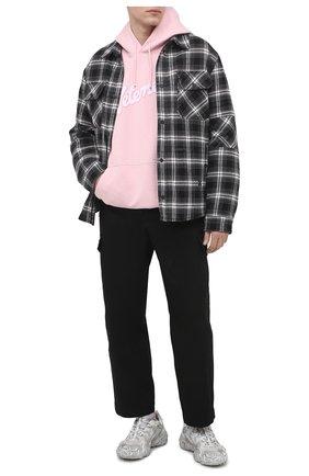Мужской хлопковое худи VETEMENTS розового цвета, арт. UE51TR770P 1604/M | Фото 2