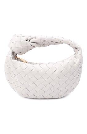 Женская сумка jodie mini BOTTEGA VENETA белого цвета, арт. 651876/VCPP5   Фото 1 (Материал: Натуральная кожа; Сумки-технические: Сумки top-handle; Размер: mini)