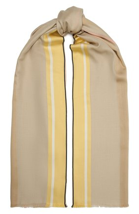 Женская шаль из шелка и шерсти LORO PIANA бежевого цвета, арт. FAL3970   Фото 1
