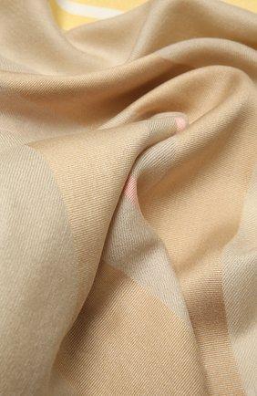 Женская шаль из шелка и шерсти LORO PIANA бежевого цвета, арт. FAL3970   Фото 2