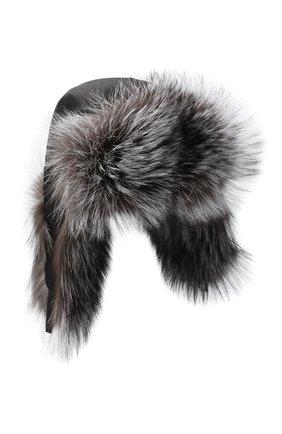 Шапка-ушанка с отделкой из меха лисы | Фото №1