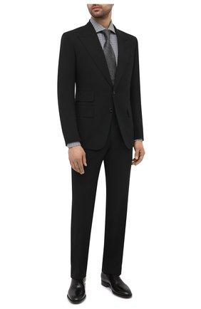 Мужская хлопковая сорочка TOM FORD серого цвета, арт. 9FT130/94S3AX | Фото 2