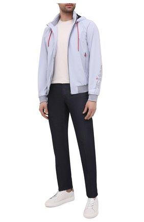 Мужские кожаные кеды BRUNELLO CUCINELLI белого цвета, арт. MZUBLBJ264 | Фото 2 (Материал внутренний: Натуральная кожа; Подошва: Массивная)