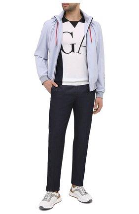 Мужские комбинированные кроссовки BRUNELLO CUCINELLI белого цвета, арт. MZUTBH0255 | Фото 2
