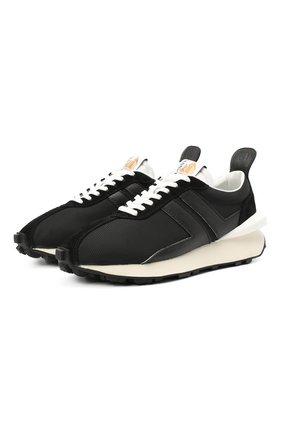 Мужские комбинированные кроссовки LANVIN черного цвета, арт. FM-SKBRUC-DRAG-A20 | Фото 1