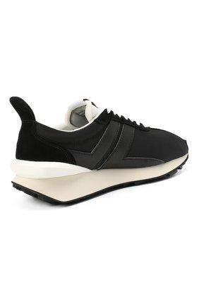 Мужские комбинированные кроссовки LANVIN черного цвета, арт. FM-SKBRUC-DRAG-A20   Фото 4 (Материал внешний: Текстиль; Материал внутренний: Натуральная кожа, Текстиль; Стили: Гранж; Подошва: Массивная)