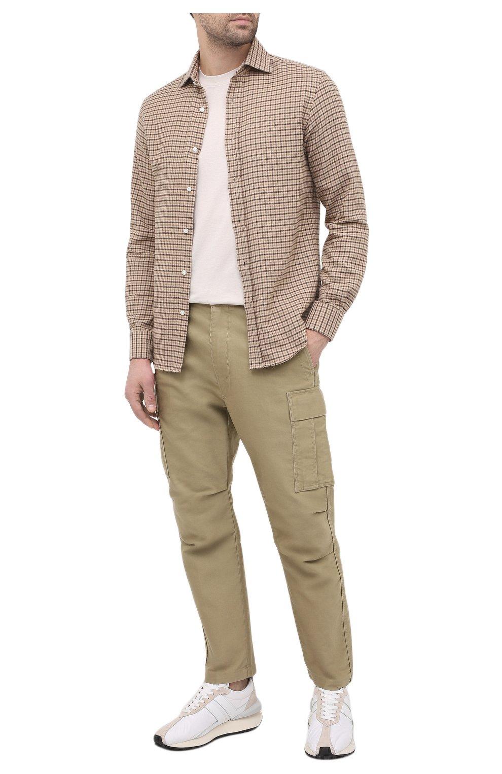 Мужские комбинированные кроссовки LANVIN белого цвета, арт. FM-SKBRUC-NYL0-A20 | Фото 2 (Материал внешний: Текстиль; Материал внутренний: Натуральная кожа, Текстиль; Стили: Гранж; Подошва: Массивная)
