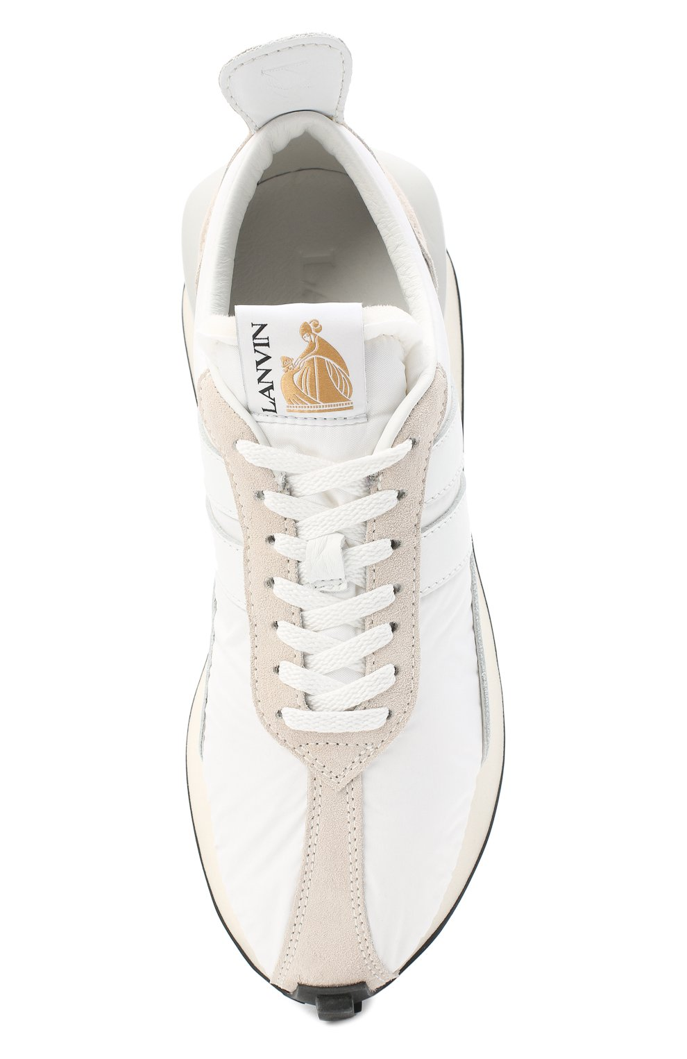 Мужские комбинированные кроссовки LANVIN белого цвета, арт. FM-SKBRUC-NYL0-A20 | Фото 5 (Материал внешний: Текстиль; Материал внутренний: Натуральная кожа, Текстиль; Стили: Гранж; Подошва: Массивная)