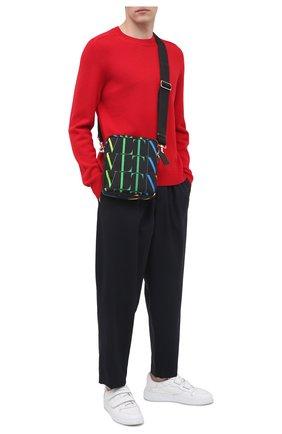 Мужская текстильная сумка vltn VALENTINO черного цвета, арт. VY2B0942/MVX   Фото 2
