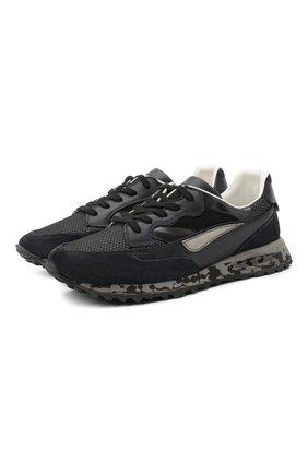 Мужские комбинированные кроссовки HIDNANDER черного цвета, арт. HA1MS210 310 | Фото 1