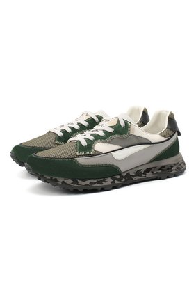 Мужские комбинированные кроссовки HIDNANDER зеленого цвета, арт. HA1MS210 310 | Фото 1