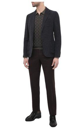Мужские кожаные дерби ZILLI SPORT черного цвета, арт. MDU-B077/001 | Фото 2