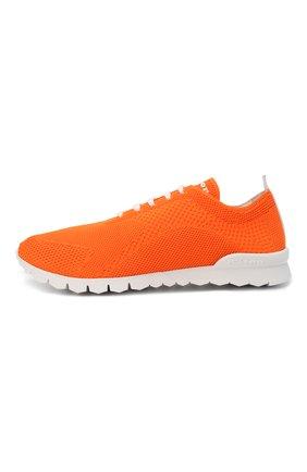 Мужские текстильные кроссовки KITON оранжевого цвета, арт. USSFITSN00809 | Фото 3