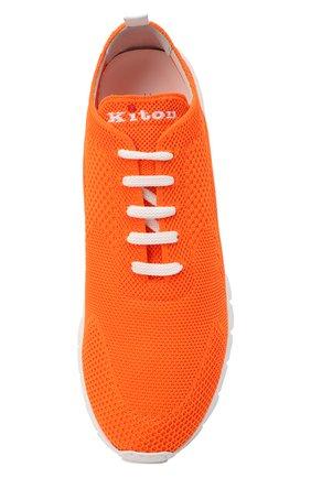Мужские текстильные кроссовки KITON оранжевого цвета, арт. USSFITSN00809 | Фото 5