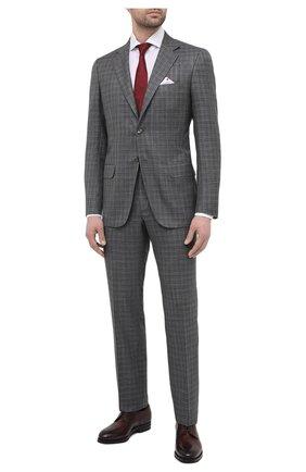 Мужской костюм из кашемира и шелка KITON серого цвета, арт. UA81K06T12   Фото 1