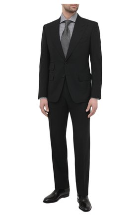 Мужской шерстяной костюм TOM FORD черного цвета, арт. Q22R12/21AL43 | Фото 1