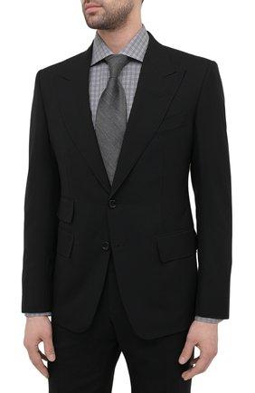 Мужской шерстяной костюм TOM FORD черного цвета, арт. Q22R12/21AL43 | Фото 2