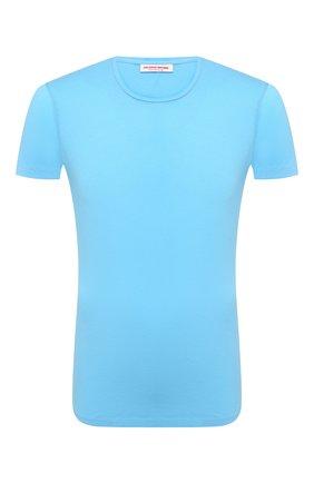 Мужская хлопковая футболка ORLEBAR BROWN голубого цвета, арт. 273286 | Фото 1