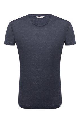Мужская льняная футболка ORLEBAR BROWN темно-синего цвета, арт. 265745 | Фото 1