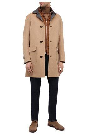 Мужской двустороннее пальто из шерсти викуньи BRUNELLO CUCINELLI бежевого цвета, арт. MB4659947/VVIC | Фото 2