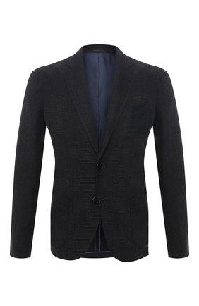 Мужской пиджак GIORGIO ARMANI темно-серого цвета, арт. 8WGGG02B/T02KM | Фото 1