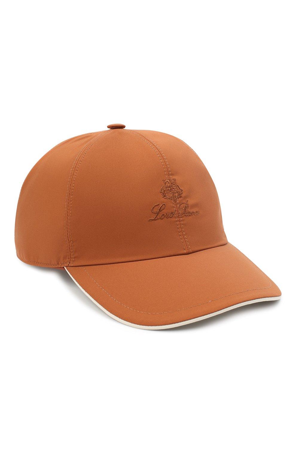 Мужской бейсболка LORO PIANA оранжевого цвета, арт. FAB1977   Фото 1