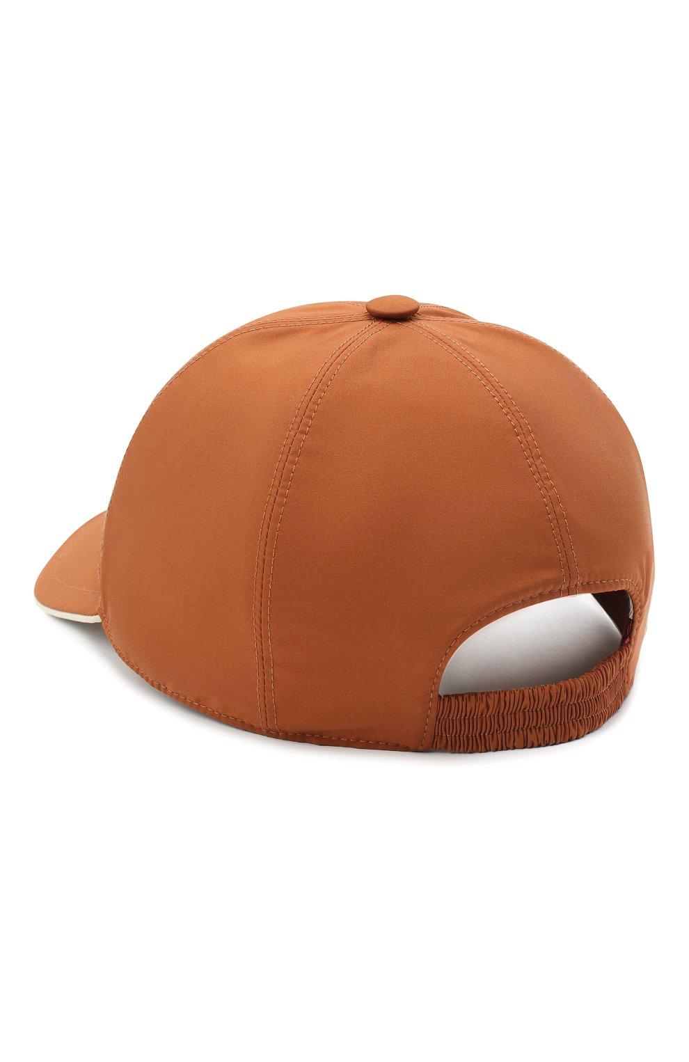 Мужской бейсболка LORO PIANA оранжевого цвета, арт. FAB1977   Фото 2