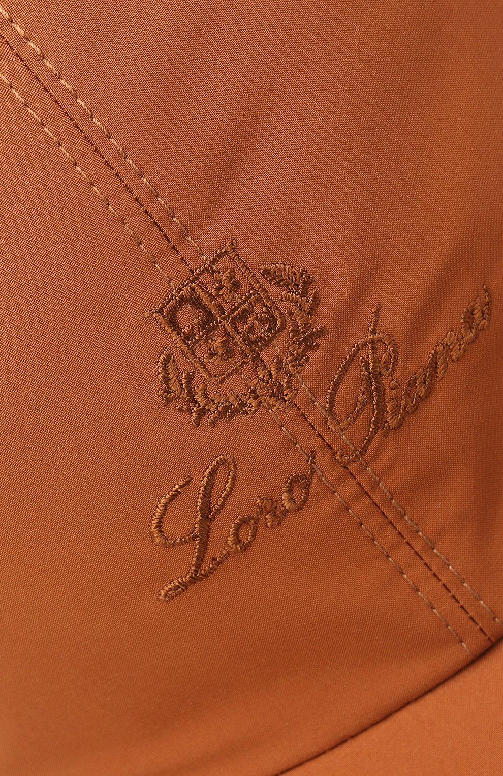 Мужской бейсболка LORO PIANA оранжевого цвета, арт. FAB1977   Фото 3