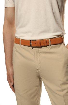 Мужской замшевый ремень LORO PIANA оранжевого цвета, арт. FAA1544 | Фото 2