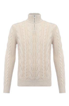 Мужской кашемировый свитер LORO PIANA бежевого цвета, арт. FAL4482 | Фото 1