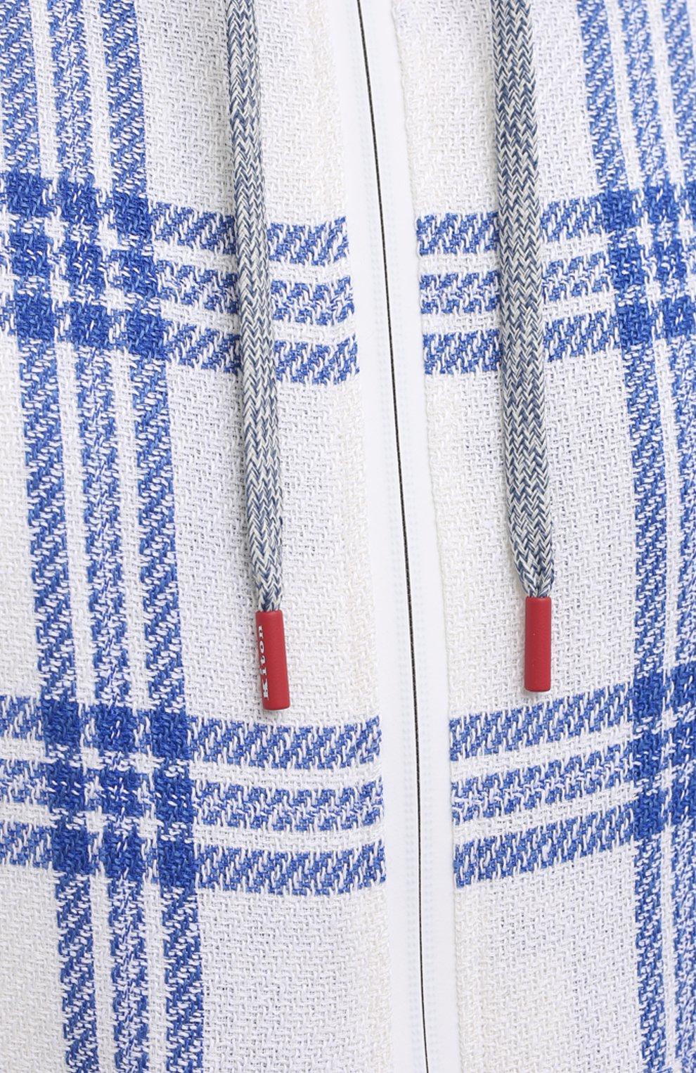 Мужской кардиган из кашемира и льна KITON белого цвета, арт. UMC010K06T0819 | Фото 5