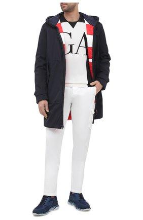 Мужские хлопковые брюки-карго KITON белого цвета, арт. UFPPCAJ07T34 | Фото 2