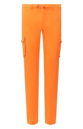 Мужские хлопковые брюки-карго KITON оранжевого цвета, арт. UFPPCAJ07T34 | Фото 1