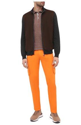 Мужские хлопковые брюки-карго KITON оранжевого цвета, арт. UFPPCAJ07T34 | Фото 2