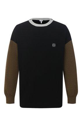 Мужской шерстяной свитер LOEWE хаки цвета, арт. H526Y14K26 | Фото 1