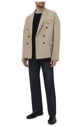 Мужской шерстяной свитер LOEWE хаки цвета, арт. H526Y14K26 | Фото 2