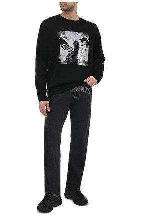 Мужские текстильные кроссовки vetements x reebok spike runner 200 VETEMENTS черного цвета, арт. UE51SN200B 1385/M | Фото 2