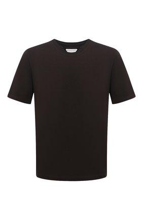 Мужская хлопковая футболка BOTTEGA VENETA темно-коричневого цвета, арт. 649055/VF1U0 | Фото 1