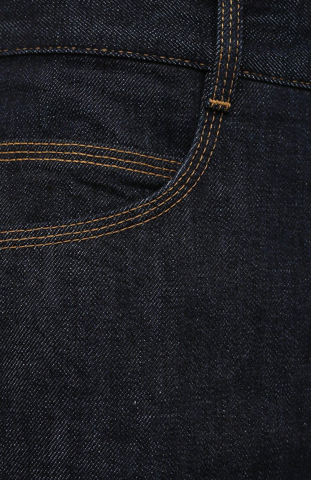 Мужские джинсы BOTTEGA VENETA темно-синего цвета, арт. 649888/V08Y0 | Фото 5 (Силуэт М (брюки): Прямые; Кросс-КТ: Деним; Длина (брюки, джинсы): Стандартные; Материал внешний: Хлопок, Деним; Стили: Минимализм)