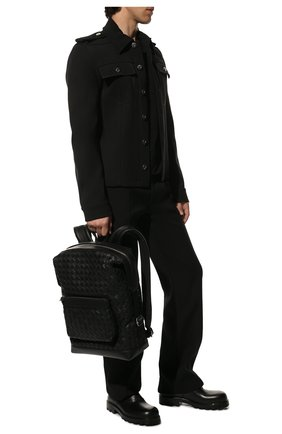 Мужской кожаный рюкзак BOTTEGA VENETA черного цвета, арт. 653118/V0E54 | Фото 2